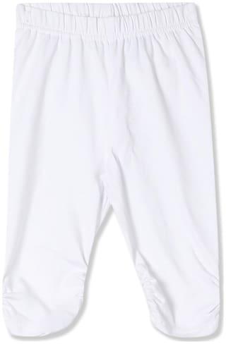 CHEROKEE Cotton Solid Leggings - White