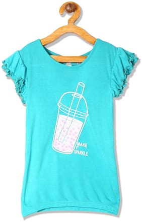 CHEROKEE Cotton Printed Top for Baby Girl - Green