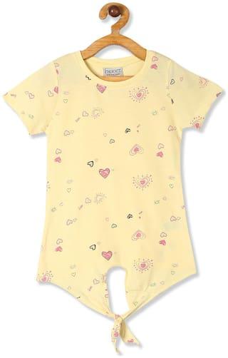 CHEROKEE Cotton Printed Top for Baby Girl - Yellow