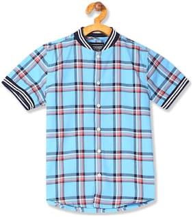 CHEROKEE Cotton Checked Shirt for Baby Boy - Blue