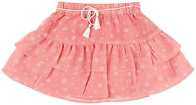 Cherokee Girls Star Print Tiered Skirt