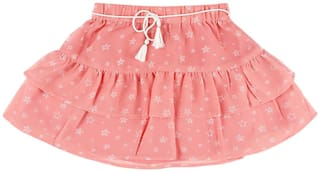 CHEROKEE Girl Polyester Printed Tiered skirt - Pink