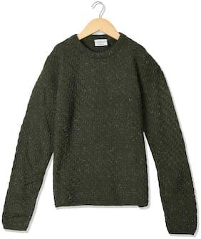 Cherokee Girls Metallic Knit Crew Neck Sweater