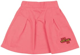 CHEROKEE Girl Cotton Solid Flared skirt - Pink