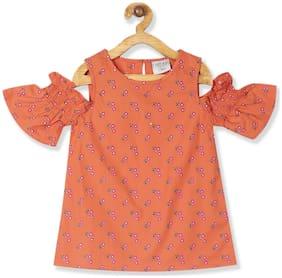 CHEROKEE Girl Cotton Printed Top - Orange