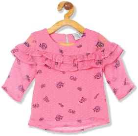 CHEROKEE Girl Polyester Printed Top - Pink