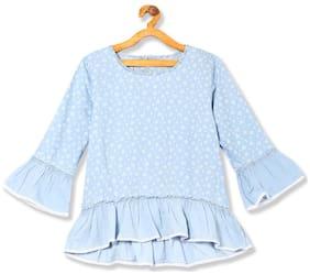 CHEROKEE Girl Cotton Printed Top - Blue
