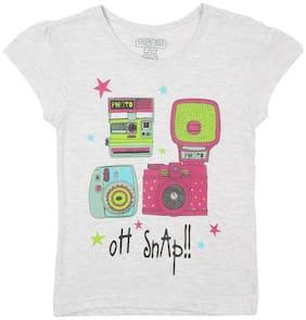 CHEROKEE Girl Cotton Printed T shirt - Grey