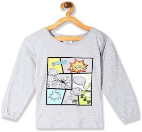 CHEROKEE Girl Cotton Embellished Top - Grey