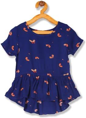 CHEROKEE Girl Viscose Printed Top - Blue