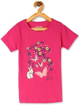 CHEROKEE Girl Cotton Printed T shirt - Pink