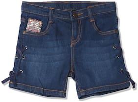 CHEROKEE Girl Cotton blend Embroidered Denim shorts - Blue