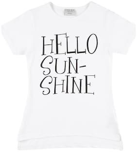 CHEROKEE Girl Cotton Printed T shirt - White