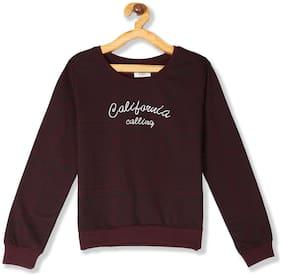 CHEROKEE Girl Cotton Printed Sweatshirt - Maroon