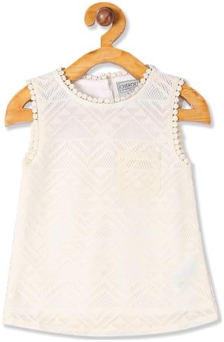 CHEROKEE Girl Polyester Self design Top - White