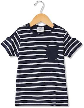 CHEROKEE Girl Cotton Striped T shirt - Blue