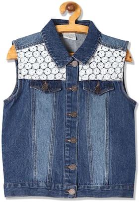CHEROKEE Girl Cotton Solid Winter jacket - Blue
