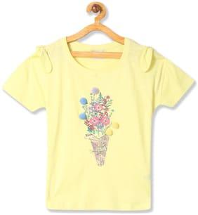 CHEROKEE Girl Cotton Printed Top - Yellow