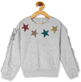 CHEROKEE Girl Cotton Printed Sweatshirt - Grey