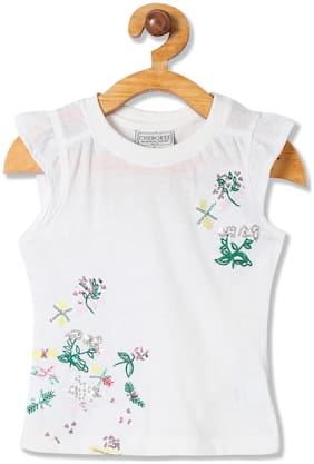 CHEROKEE Girl Cotton blend Embellished Top - White