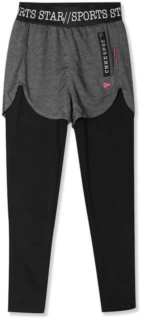 CHEROKEE Girl Polyester Solid Regular shorts - Grey