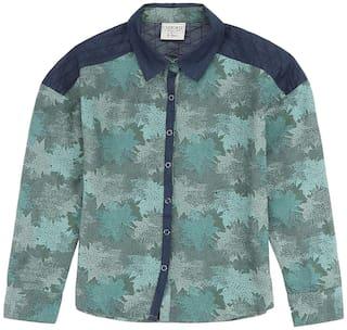 CHEROKEE Girl Viscose Printed Shirt - Green
