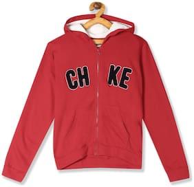 CHEROKEE Girl Cotton Solid Sweatshirt - Red