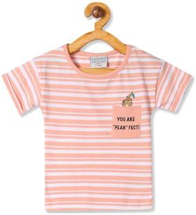 CHEROKEE Girl Cotton Striped T shirt - Beige