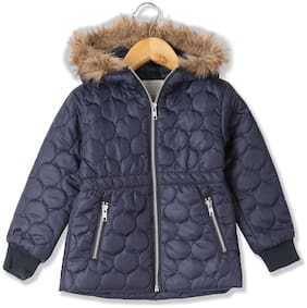 CHEROKEE Girl Polyester Solid Winter jacket - Blue