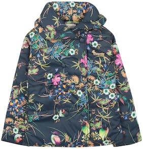 CHEROKEE Girl Polyester Printed Winter jacket - Blue