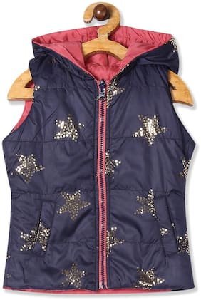 CHEROKEE Girl Polyester Colorblocked Winter jacket - Red