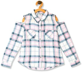 CHEROKEE Girl Rayon Checked Shirt - Pink