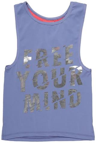CHEROKEE Girl Polyester Printed Top - Blue