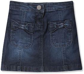 CHEROKEE Girl Cotton blend Solid Straight skirt - Blue
