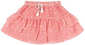CHEROKEE Girl Polyester Printed Tiered skirt - Pink