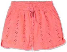 Pink Regular Shorts Shorts