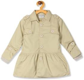 CHEROKEE Girl Cotton Solid Winter jacket - Beige