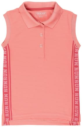 CHEROKEE Girl Polyester Solid T shirt - Pink