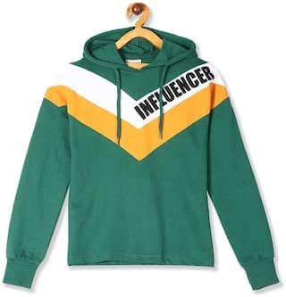 CHEROKEE Girl Cotton Colorblocked Sweatshirt - Green