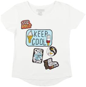 CHEROKEE Girl Cotton Printed Top - White