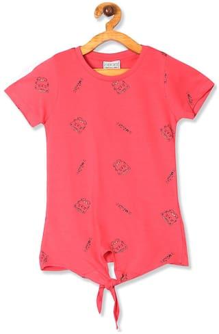 CHEROKEE Girl Cotton Printed Top - Pink