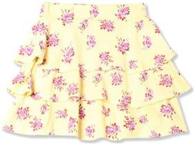 CHEROKEE Girl Viscose Printed Tiered skirt - Yellow