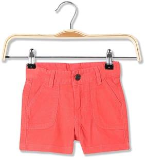 CHEROKEE Girl Cotton Solid Regular shorts - Pink