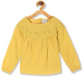 CHEROKEE Girl Cotton Solid Top - Yellow
