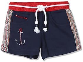 CHEROKEE Girl Cotton Solid Regular shorts - Blue