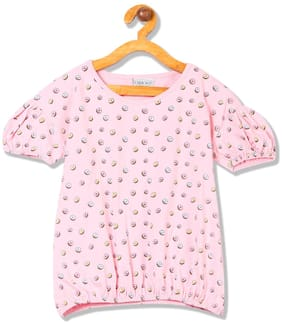 CHEROKEE Girl Cotton Printed Top - Pink