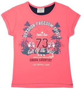 CHEROKEE Girl Cotton Printed Shirt - Pink
