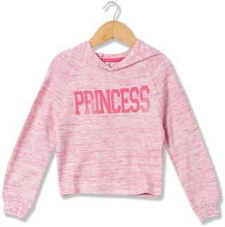 CHEROKEE Girl Cotton Solid Sweatshirt - Pink