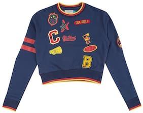CHEROKEE Girl Cotton Printed Sweatshirt - Blue
