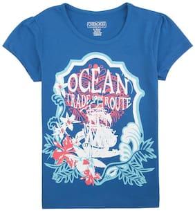 CHEROKEE Girl Cotton Printed T shirt - Blue